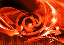 En-tête rouge de programme de lecture pour le site Image libre de droits