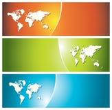 en-têtes colorés de drapeaux Images libres de droits