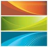 en-têtes colorés de drapeaux Image stock