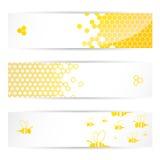 En-têtes de miel et d'abeilles Image stock