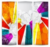 En-têtes de verticale de collection Image libre de droits