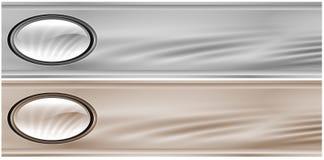 En-têtes métalliques gris Image stock