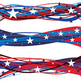 En-têtes patriotiques de jour de collecte des Etats-Unis Images libres de droits