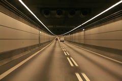 En túnel Foto de archivo libre de regalías