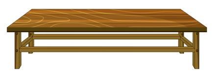 En tabell royaltyfri illustrationer