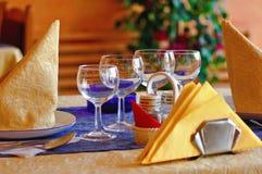 En tabell som är klar för kunderna Royaltyfri Foto
