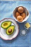 En tabellaktivering med ingredienser Royaltyfria Foton