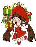 En tanke för jul för alla i färg royaltyfri illustrationer