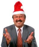 en tant qu'aîné de Santa d'homme d'affaires Photographie stock libre de droits