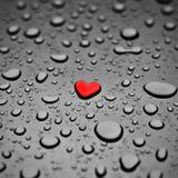 en tant que pluie de coeur de baisse Photographie stock