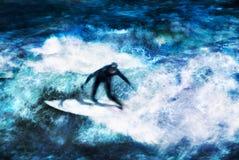 en tant que surfer d'été de sport Images libres de droits