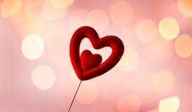 en tant que vecteur rouge de forme de belle illustration fondamentale de coeur Image libre de droits