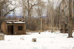 En tappningAdobe hemman nära Taos som är ny - Mexiko Royaltyfria Foton
