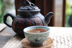 en tea Arkivfoton