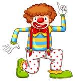 En teckning av en clowndans vektor illustrationer