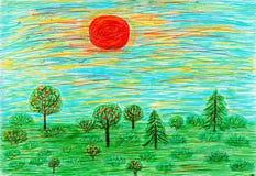 En teckning för barn` s av sommaren arkivbilder