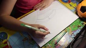 En teckning för barn` s lager videofilmer