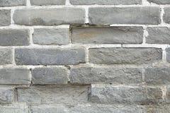 En tegelstenvägg Arkivbild