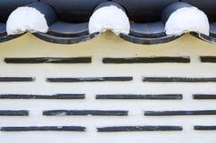 En tegelstenvägg av en koreansk stil Fotografering för Bildbyråer