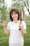En tennisflicka Royaltyfri Bild