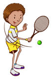 En tennisspelare Arkivbild