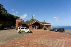 En terminal för kryssningskepp i det karibiskt royaltyfria bilder