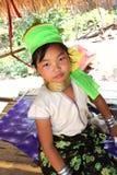 En thai stamflicka för longneck Royaltyfri Foto