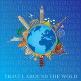 En todo el mundo viaje y turismo Fotografía de archivo libre de regalías