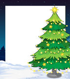 En tom julmall med ett julträd Royaltyfria Bilder
