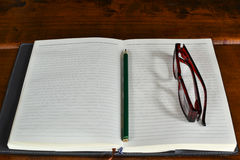 En tom sida Fotografering för Bildbyråer