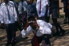 En tonårs- skolapojke, Sydafrika Royaltyfria Bilder
