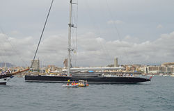 En toppen yacht Arkivbilder