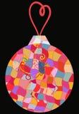 En toy på entree med porslin Jultomte och gran - tree Royaltyfria Bilder