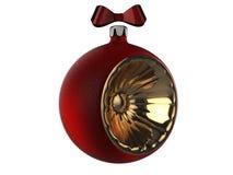 En toy på entree med porslin Jultomte och gran - tree Fotografering för Bildbyråer