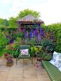 En trädgård på Chelsea Flower Show Royaltyfri Bild
