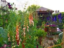 En trädgård på Chelsea Flower Show Royaltyfria Foton