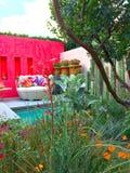 En trädgård på Chelsea Flower Show Royaltyfri Fotografi