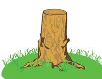 En trädstump Royaltyfri Bild
