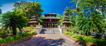 En tränepalesisk pagod i södra bankParklands, Brisbane Royaltyfri Bild