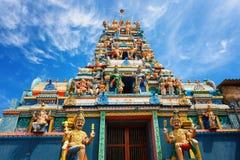 En traditionell hinduisk tempel i Galle väg 8000, Colombo, Sri Lanka Arkivbild