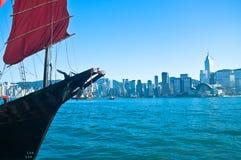 SkräpShip i den Victoria hamnen Royaltyfria Bilder