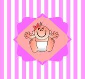 En trevlig illustration för en baby showerinbjudan vektor illustrationer
