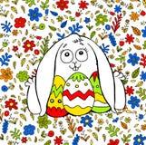 En trevlig illustration om påskkaninen stock illustrationer