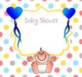 En trevlig inbjudan för din baby shower royaltyfri illustrationer
