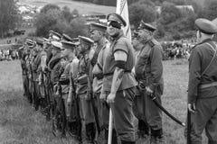 En trupp av soldater Royaltyfri Foto