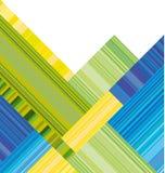 En-tête bleu et vert de vecteur avec la rayure colorée Image libre de droits