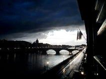En tung storm i Florence - Italien Royaltyfria Foton