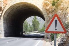 En tunnel på Mallorca, Spanien Royaltyfri Foto
