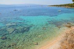 En tur till Kroatien och skönheten av dess hav royaltyfria bilder