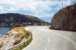 En turnera av Grekland med bilen Royaltyfri Bild